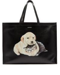 Balenciaga - Leather Puppy & Kitten Shopper - Lyst