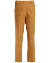Etro - Violante Geometric Pattern Stretch Cotton Trousers - Lyst