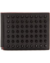 Christian Louboutin | Clipsos Stud-embellished Leather Wallet | Lyst