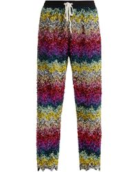 Ashish - Striped Sequin Embellished Cotton Track Trousers - Lyst