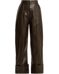 JOSEPH - High-rise Leather Trousers - Lyst