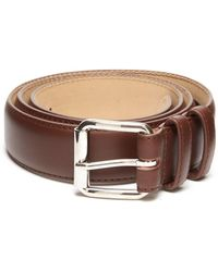 A.P.C. Topstitched Leather Belt