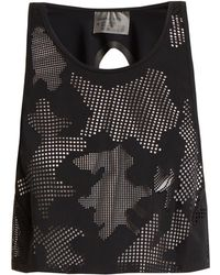 Charli Cohen - - Lumen Perforated Front Jersey Cropped Top - Womens - Black - Lyst