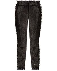 MSGM - High-rise Sequin-embellished Trousers - Lyst