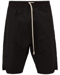 Rick Owens - Basket Swinger Stretch Cotton Shorts - Lyst