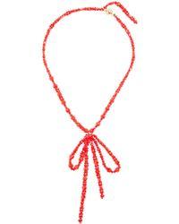 Simone Rocha - Bow-pendant Beaded Necklace - Lyst