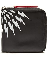 Neil Barrett - Lightning-bolt Zip-around Wallet - Lyst
