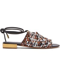 Ferragamo - Laino Woven Leather Sandals - Lyst
