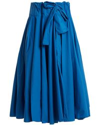Maison Rabih Kayrouz - Gathered Waist Paper Taffeta Midi Skirt - Lyst