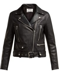 Acne Studios - Mock Leather Motorcycle Jacket In Black - Lyst