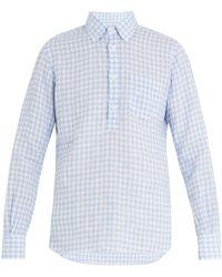 Glanshirt | Eric Point-collar Gingham Linen Shirt | Lyst