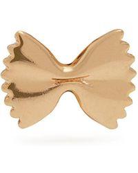 Alison Lou - Yellow-gold Bow Tie Single Earring - Lyst