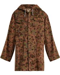 MYAR - Oversized Camouflage-print Cotton Hooded Jacket - Lyst