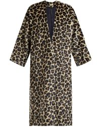MASSCOB - Timothee Leopard Print Faux Fur Coat - Lyst