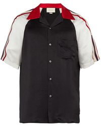 25199c8060d Lyst - Gucci Double-cuff Satin-trimmed Cotton Shirt in White for Men