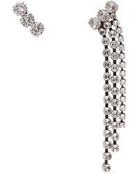 Isabel Marant - Strass Crystal-embellished Stud & Tassel Earrings - Lyst