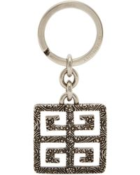 Givenchy - 4g Logo Engraved Metal Key Ring - Lyst