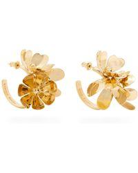 Simone Rocha - Ornate Flower Embellished Hoop Earrings - Lyst