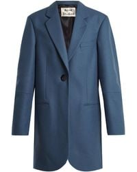 Acne | Klarah Notch-lapel Wool-blend Flannel Coat | Lyst