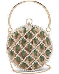 Rosantica By Michela Panero Gautier Crystal Embellished Cage Clutch - Multicolour