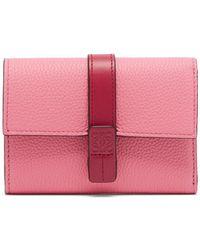Loewe - Anagram Grained Leather Wallet - Lyst