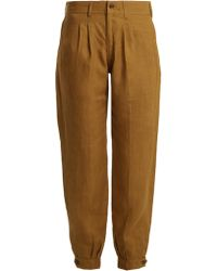 Chufy - X Aux Charpentiers Tapered-leg Linen Trousers - Lyst