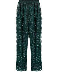 Dolce & Gabbana - Pantalon droit taille haute en dentelle cordonnet - Lyst