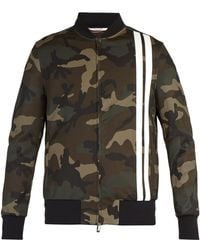 2b8f0ab6e48c8 Valentino - Camouflage Print Bomber Jacket - Lyst