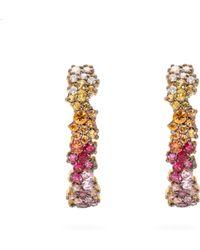 Ana Khouri - 18kt Gold And Sapphire Earrings - Lyst