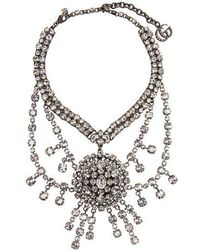 Gucci - Crystal-embellished Statement Necklace - Lyst