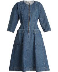 Apiece Apart - Fernwood Denim A-line Dress - Lyst