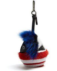 Fendi - Bag Bugs Fur Key Charm - Lyst