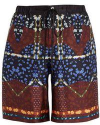 Meng - Drawstring-waist Silk-satin Pyjama Shorts - Lyst
