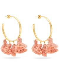 Marte Frisnes | Raquel Gold-plated Tassel Hoop Earrings | Lyst