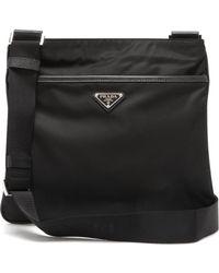 Prada Logo Messenger Bag - Black