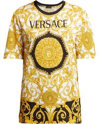 Versace - Baroque Print Cotton T Shirt - Lyst