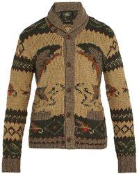 RRL - Shawl Collar Wool Blend Cardigan - Lyst