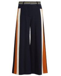 Peter Pilotto - High-rise Striped Wool-blend Culottes - Lyst