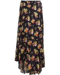 Preen Line - Sibyll Floral-print Crepe De Chine Midi Skirt - Lyst
