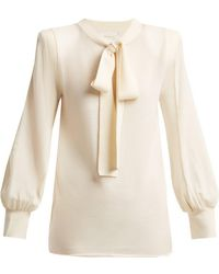 Chloé | Tie-neck Wool Jumper | Lyst