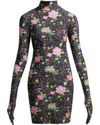 Vetements - Robe en jersey à manches gantées et imprimé - Lyst