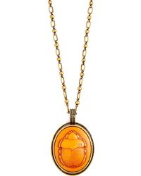 Gucci - Scarab Pendant Necklace - Lyst