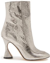 Sies Marjan - Emma Crinkled-leather Ankle Boots - Lyst
