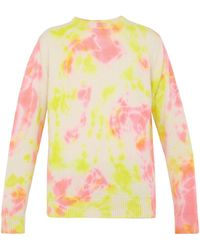 The Elder Statesman - Tie Dyed Crew Neck Cashmere Sweater - Lyst