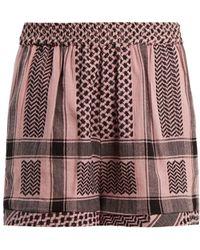 Cecilie Copenhagen - High-rise Scarf-jacquard Cotton Shorts - Lyst