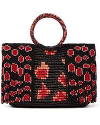 Sensi Studio - Bead Embellished Toquilla Straw Bag - Lyst
