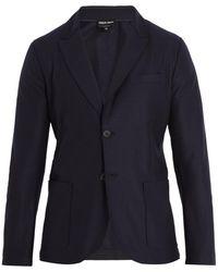 Giorgio Armani   Single-breasted Wool-blend Blazer   Lyst