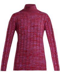 Marni - Ribbed Knit Wool Sweater - Lyst