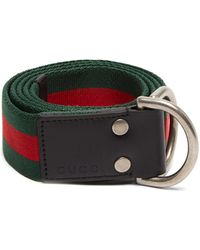 9c17c0f021f Lyst - Gucci Gg-buckle Web-canvas Belt in Blue for Men