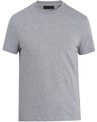 Prada - Set Of Three Cotton-jersey T-shirts - Lyst
